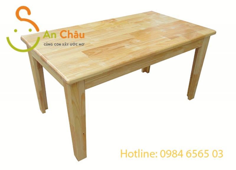Bàn gỗ thông mầm non hình chữ nhật